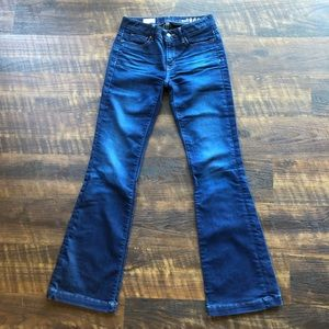 Gap Long & Lean Dark Flare Jeans 24/00 Like New